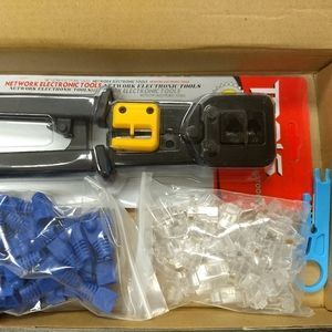 NETWORK CABLE CRIMPER KIT - RJ45 - Ethernet Tools